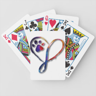 Infinity Paw Bicycle Playing Cards