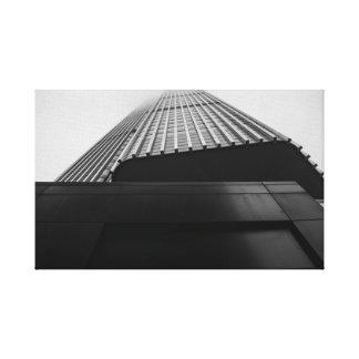 Infinity Skyscraper in Thick Fog Canvas Print