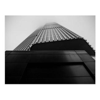 Infinity Skyscraper in Thick Fog Postcard
