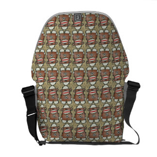 Infinity Sock Monkey Messanger Bag Commuter Bag