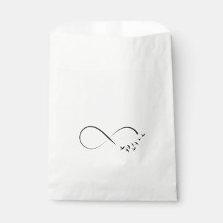 Infinity  swallow symbol favour bag
