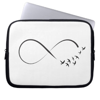 Infinity swallow symbol laptop sleeve