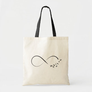 Infinity swallow symbol tote bag