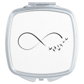 Infinity  swallow symbol travel mirror