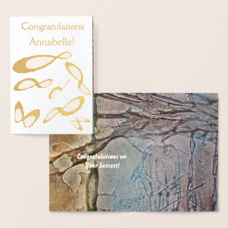 Infinity Symbol   - Congratulations Customize Foil Card