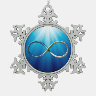 Infinity Symbol | Cool Gifts Snowflake Pewter Christmas Ornament