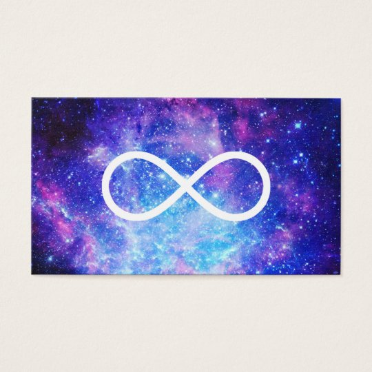 Infinity symbol nebula business card