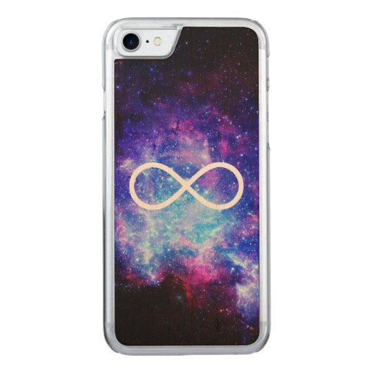 Infinity symbol nebula carved iPhone 7 case