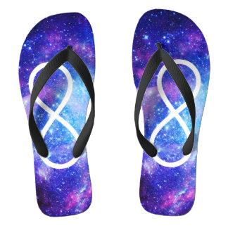 Infinity symbol nebula flip flops