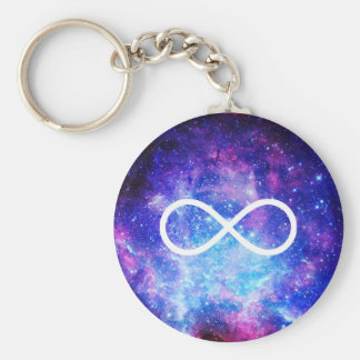 Infinity symbol nebula keychain