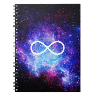 Infinity symbol nebula notebook