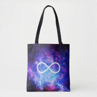 Infinity symbol nebula tote bag