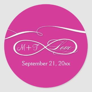 Infinity Symbol Sign Infinite Love Wedding Set Classic Round Sticker
