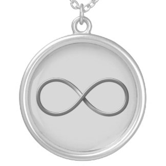 Infinity Symbol Silver Plated Necklace