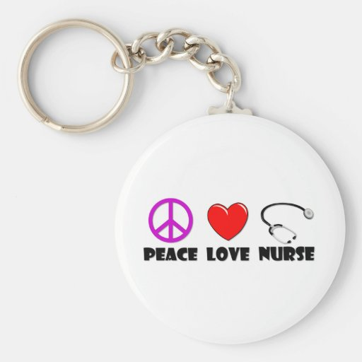 Infirmière d'amour de paix porte-clés