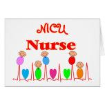Infirmière de NICU--Graphiques adorables de bébé Cartes De Vœux