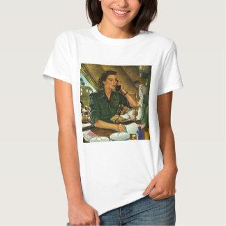 Infirmière patriote et médicale vintage au tee shirt