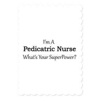 Infirmière pédiatrique carton d'invitation  12,7 cm x 17,78 cm