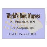 """""""Infirmières du meilleur du monde"""" --Cadeaux hilar Carte De Vœux"""