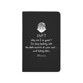 INFJ Taking Notes Black Pocket Journal