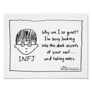 INFJ Taking Notes Print