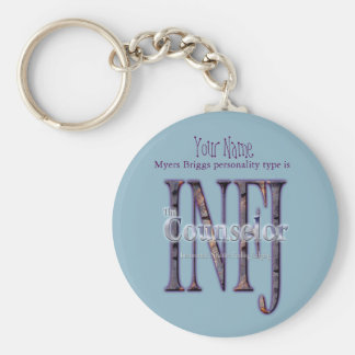 INFJ theCounselor Basic Round Button Keychain