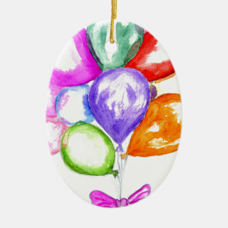 Inflatable Colorful Balloons Ceramic Ornament