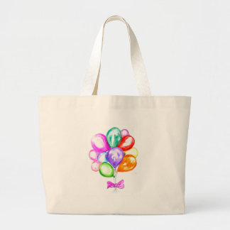 Inflatable Colorful Balloons Large Tote Bag