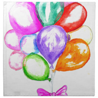 Inflatable Colorful Balloons Napkin