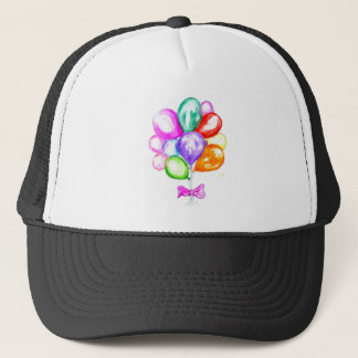 Inflatable Colorful Balloons Trucker Hat