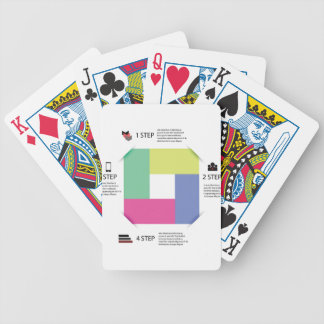 info graphic square bicycle playing cards