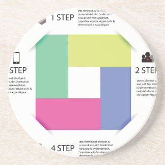 info graphic square coaster
