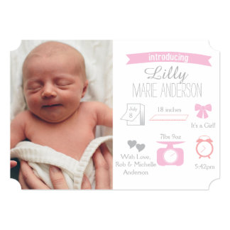 Infographic Birth Announcement - Girl