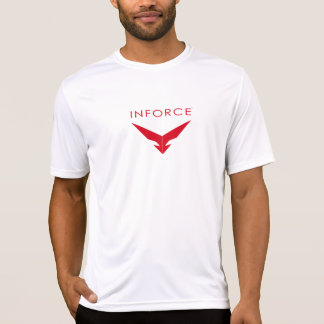 INFORCE Logo Red on Mens Athletic Shirt