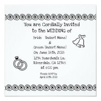 Informal Wedding Card