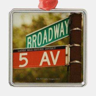 Information Board 2 Silver-Colored Square Ornament