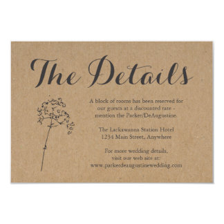 Information Enclosure Card | Rustic Kraft
