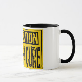 Information Sign - Hangover Cure  Yellow/Black Mug