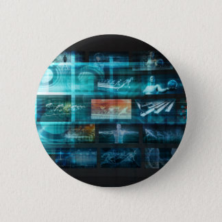 Information Technology or IT Infotech as a Art 2 Inch Round Button