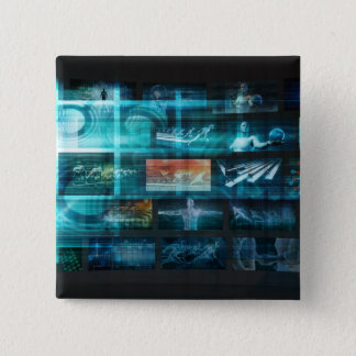 Information Technology or IT Infotech as a Art 2 Inch Square Button