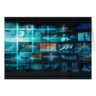 Information Technology or IT Infotech as a Art Card