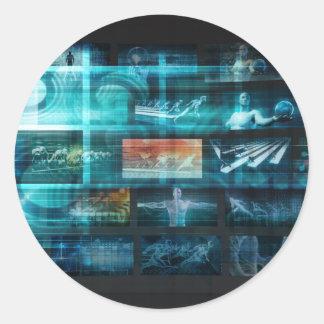 Information Technology or IT Infotech as a Art Classic Round Sticker