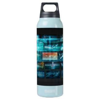 Information Technology or IT Infotech as a Art Insulated Water Bottle