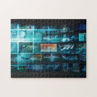 Information Technology or IT Infotech as a Art Jigsaw Puzzle