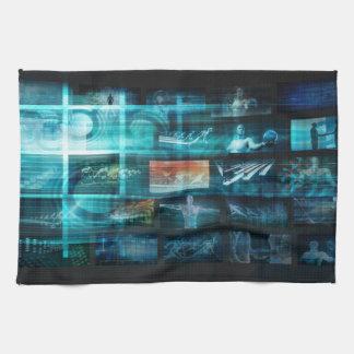 Information Technology or IT Infotech as a Art Kitchen Towel