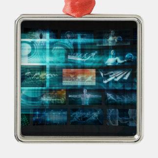 Information Technology or IT Infotech as a Art Metal Ornament