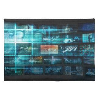 Information Technology or IT Infotech as a Art Placemat
