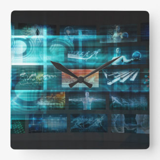Information Technology or IT Infotech as a Art Square Wall Clock