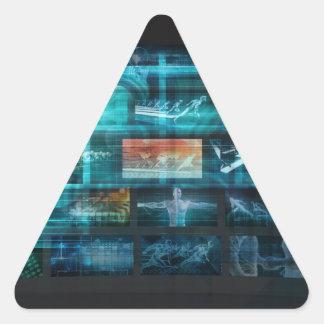 Information Technology or IT Infotech as a Art Triangle Sticker