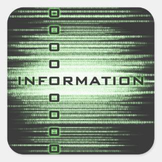 Information Text Design Square Sticker